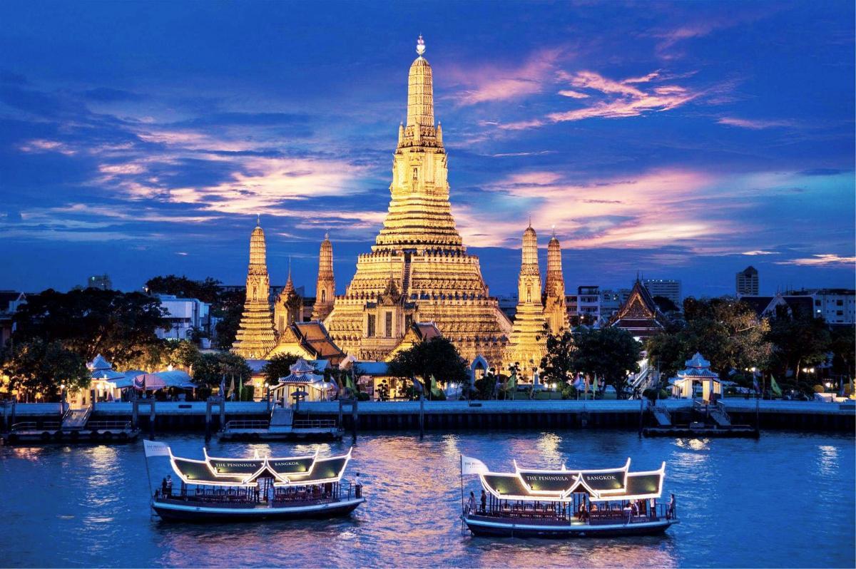 tour du lich thai lan - du thuyen tren song Chaophraya